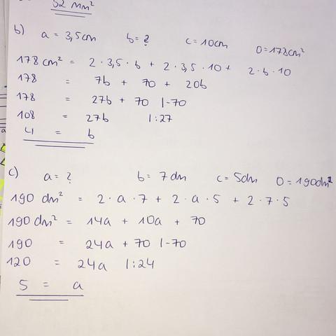 Lösungen  - (Körper, Mathe, Größe)