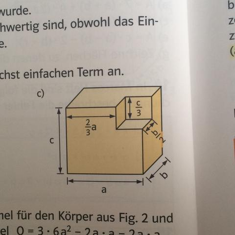 Wie lautet  hier der term für oberflächeninhalt  - (berechnen, Oberflächeninhalt)