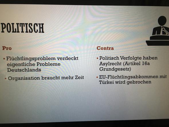 Obergrenze für Flüchtlinge (Politisch)?