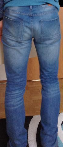 hinten - (Mode, Beine, Jeans)
