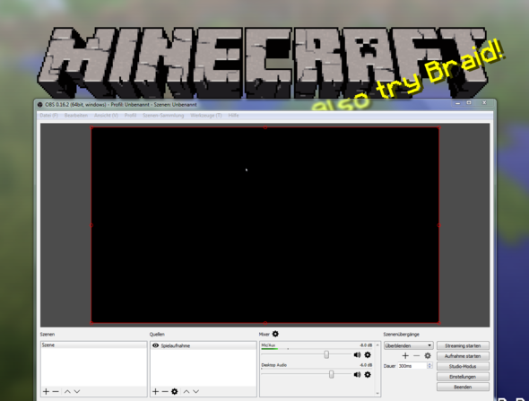 Da der Blackscreen - (Computer, Videospiele, Aufnahme)