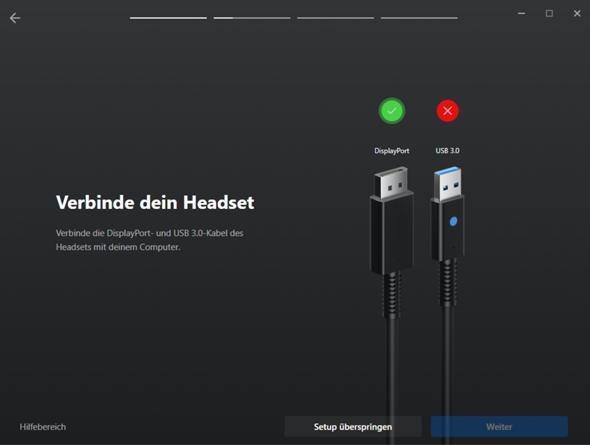 Oculus Rift S (USB Kabel wird nicht erkannt)?