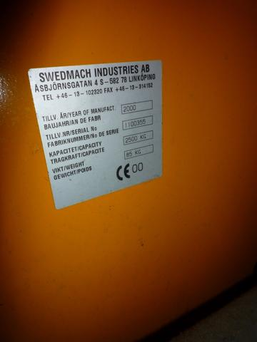 Datenaufkleber zum gelben - (Werkstatt, Lager, Hydraulik)