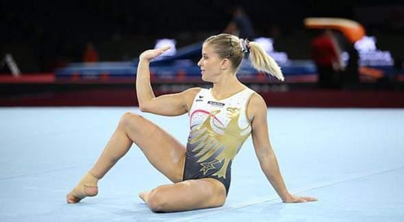 Olympia-Turnerinnen im Ganzkörperanzug?