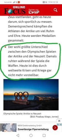 Olympische Spiele in der Antike?