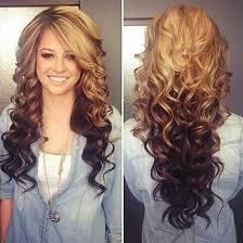 helle haare und dunkle ombré - spitzen - (Haarfarbe, Ombre)