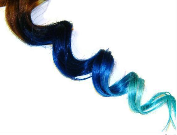 Blau! - (Haare, ombre hair)