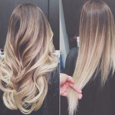 Ombre Bei Dunkelblonden Haaren