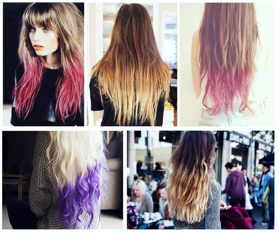 ombre hair dip dye bei kurzen haaren haare aussehen haarfarbe. Black Bedroom Furniture Sets. Home Design Ideas