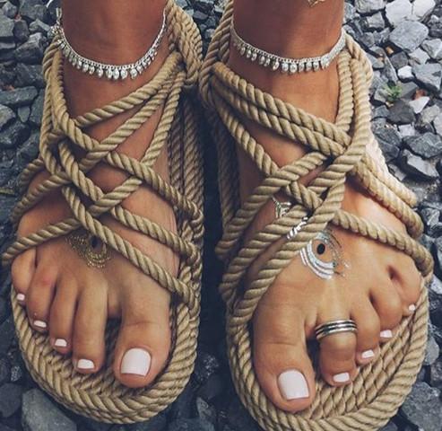 Da sind sie  - (Mode, Schuhe, Hippie)