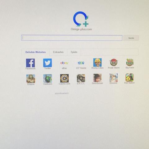 So sieht es aus, wenn ich Chrome starte. - (entfernen, Chrome, Suchmaschine)