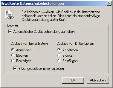 Cookies - (Internet, deutsch, online)