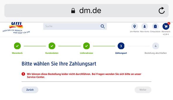 Bestellung  - (online, Bestellung, DM)
