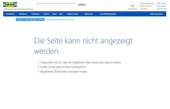 fehlermeldung online bewerbung praktikum - Ikea Bewerbung