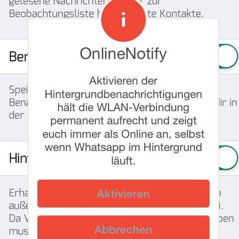 OnlineNotify - (WhatsApp, Jailbreak, iOS 9)
