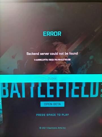 Open beta battlefield 2042 problem?