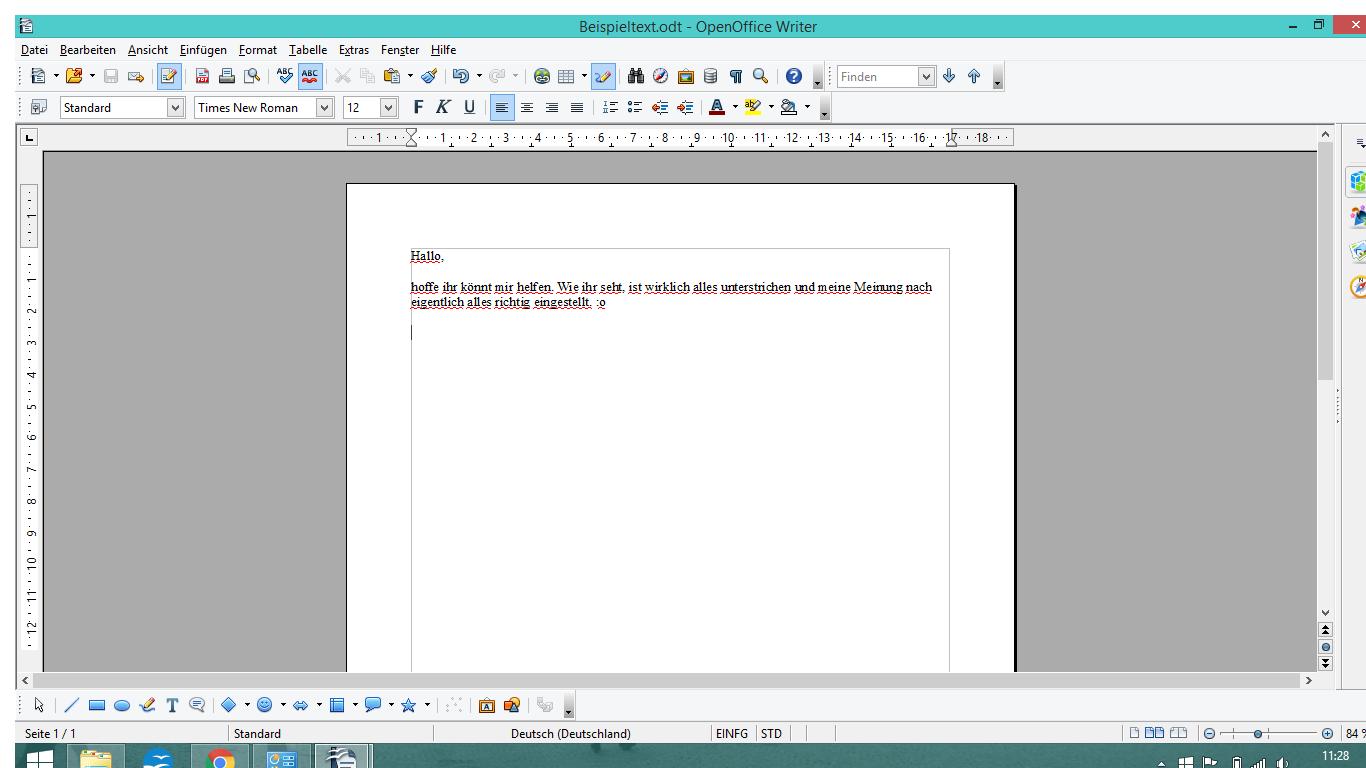 Open Office - Rechtschreibprüfung -> alle Wörter unterstrichen ...