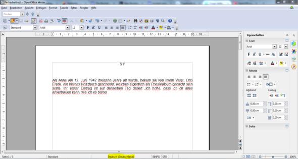 Screenshot - (Computer, Rechtschreibung, Open Office)