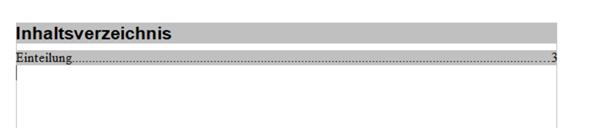 OpenOffice Inhaltsverzeichnis und Seitennummer?