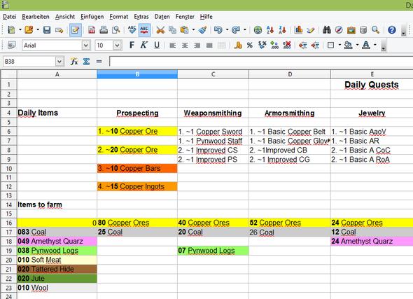 Ausschnitt vom.doc - (Excel, MMORPG, rechnen)
