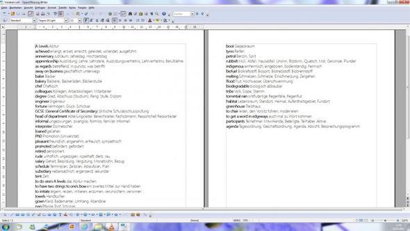 Bild 1 - (Schreiben, Text, Open Office)