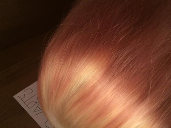 Orange-Gelb-Rosa Verlauf - (Haarfarbe, färben)