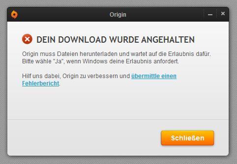 Origin Error ....  - (Computer, PC, Download)