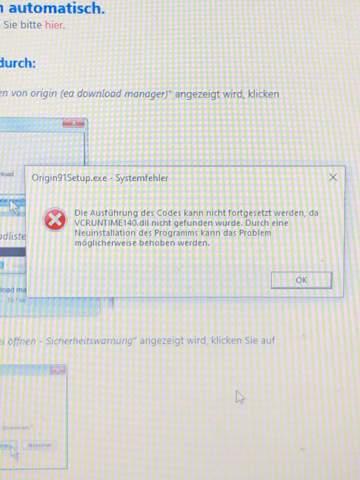 Origin Download Systemfehler?