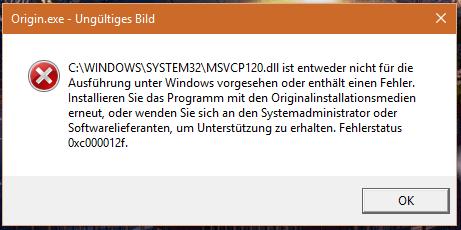 Das passiert wenn ich es starte. - (Windows 10, Battlefield, Origin)