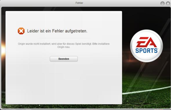 So sieht's aus, wenn ich den Fussbll Manager 13 starten will. - (Computer, PC, Windows)