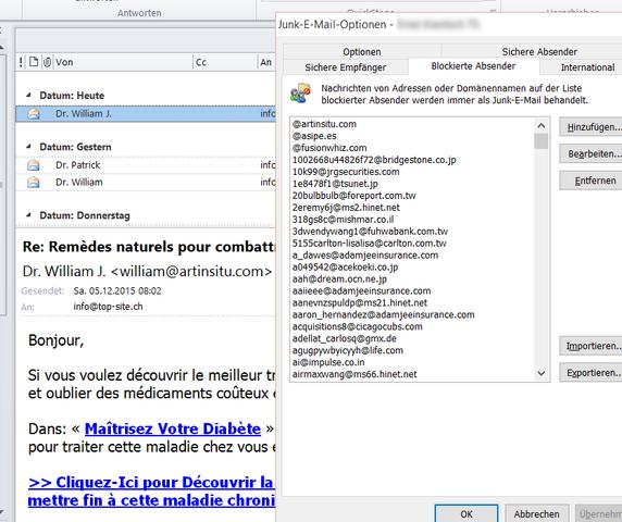 Junk Mail - (Windows 10, outlook-2010)