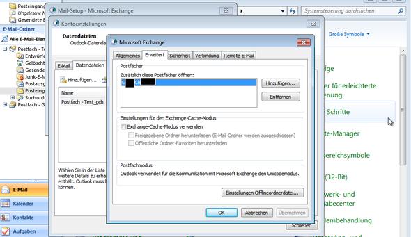 Das Postfach wird angehängt - (Outlook, Postfach, Exchange)