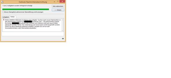 Problembeschreibung - (Microsoft, Outlook, Serverprobleme)
