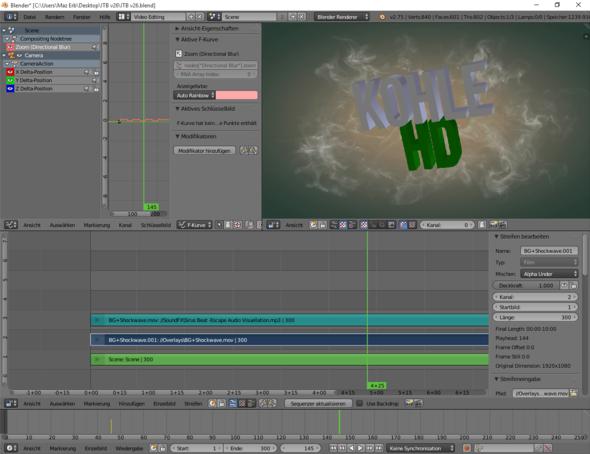 Beim Video Editor - (Video, Intro, Blender)