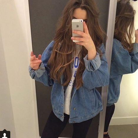 Oversized denim jacket vintage grunge - Jeansjacke damen oversize ...
