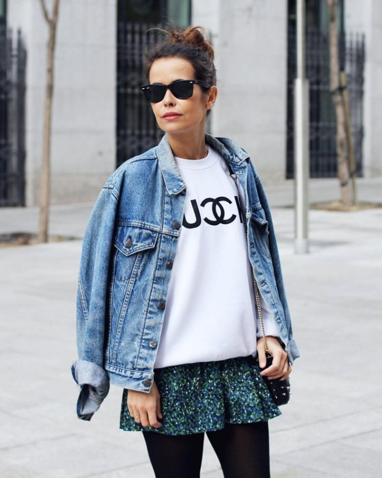 oversized jeansjacken f r damen gesucht vintage jeansjacke