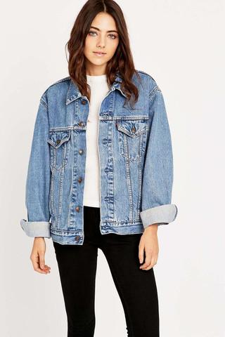 Oversized jeansjacken f r damen gesucht vintage jeansjacke - Jeansjacke damen oversize ...