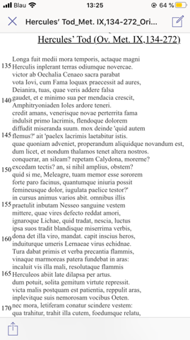 Ovid Metamorphosen Hercules Tod?
