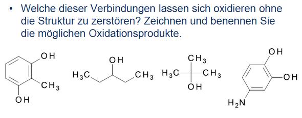 oxidationsprodukte  - (Chemie, oxidation, chemisch)