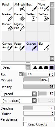 Wie es bei mir aussieht - (Programm, zeichnen, Paint tool sai)