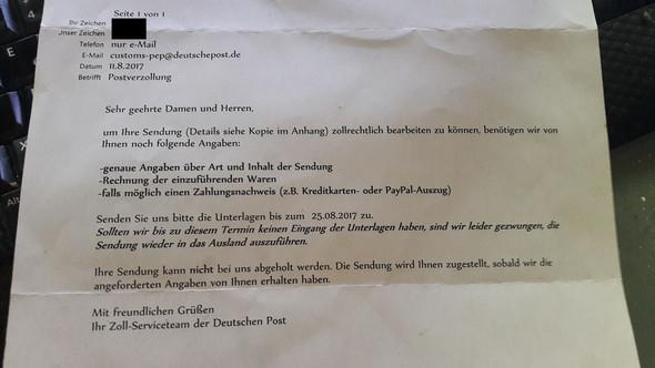 Brief von der Post - (Ausland, Post, Paket)