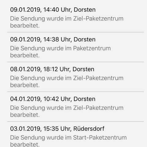 Paket Hängt Lange In Paketstation Fest Ebay Versand Dhl
