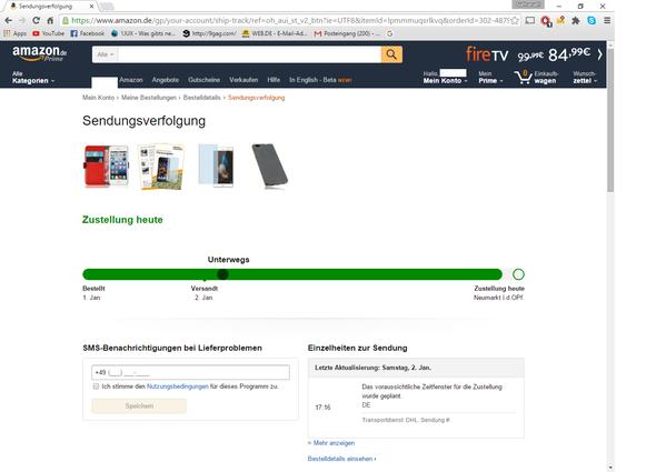 Per Prime bestellt - (Amazon, Paket)