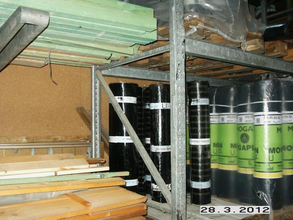 Palettenregal von links unten - (Profil, Hersteller, Lagerung)