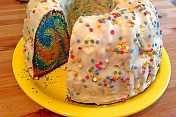 Papageienkuchen, Die bunte füllung ist mein Problem - (papageienkuchen)