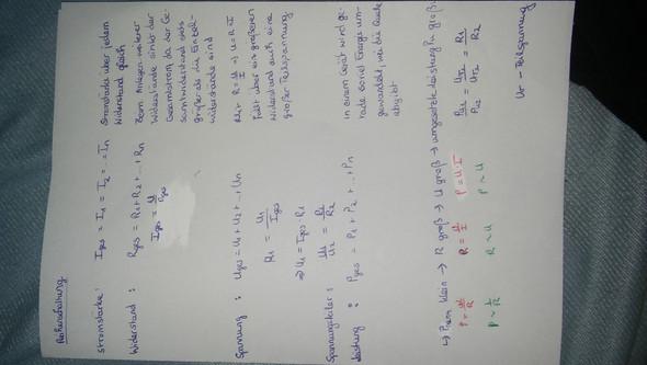 Warum Reihenschaltung usw. (Physik, Schaltung)