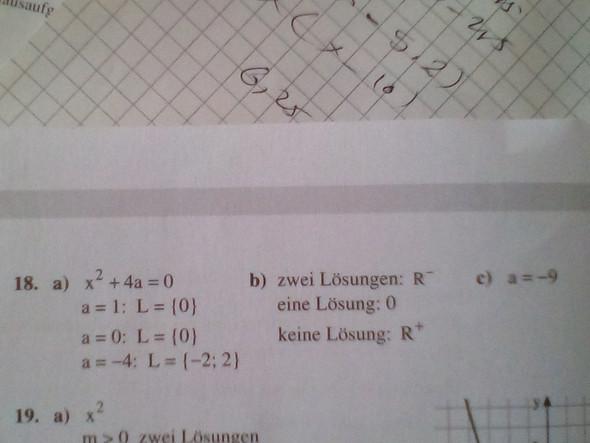 Parameter a bestimmen, für beide Gleichungen? (Schule, Mathe ...