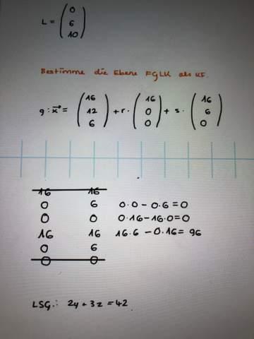 Parameterform in Koordinatenform umwandeln?
