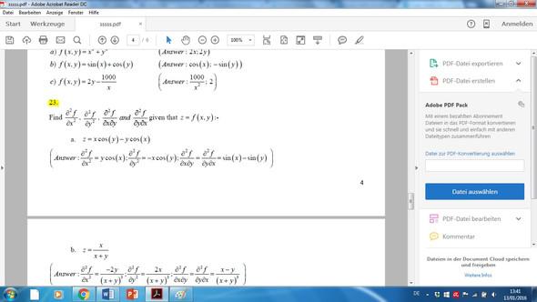 Aufgabe 23 - (Mathematik, Universität)