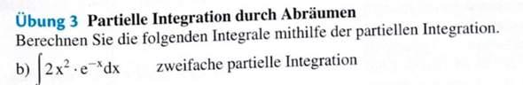 Partielle Integration durch Abräumen?